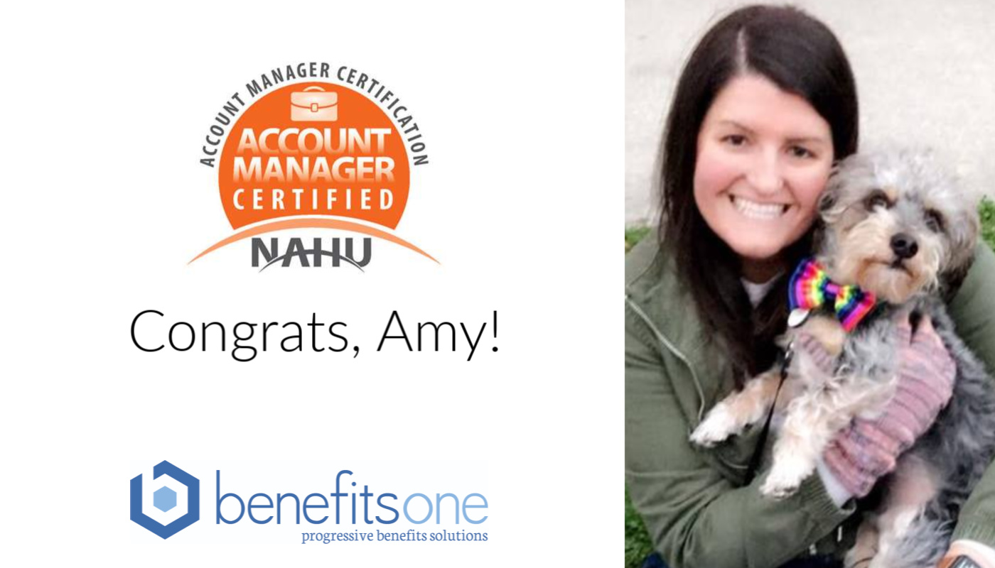benefitone's Amy Indest is now NAHU certified